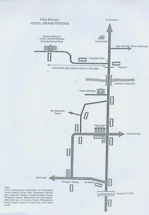 Peta lokasi Grand Pesona Hotel& Resort